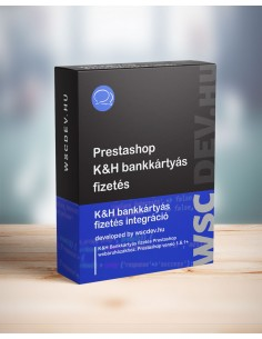 Prestashop 1.6.1-1.7.6.1 K&H bankkártyás fizetés module